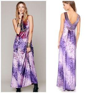 Free People Purple Velvet Maxi Dress